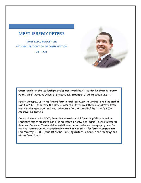 Jeremy Peters, NACD CEO, will be guest speaker at the Leadership Development Workshop in Temple, TX