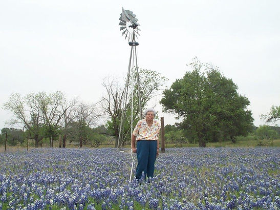 Menard Rancher IN BLUEBONNET FIELD JULY