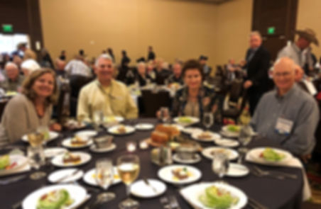 Enjoying the Monday evening banquet, ATSWCD raffles and live auction