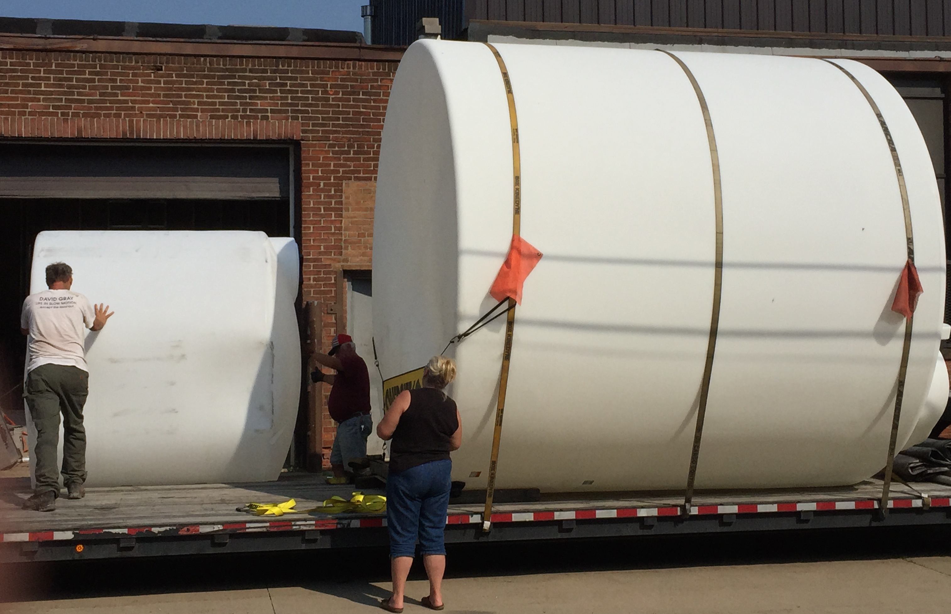 Water tank delivery