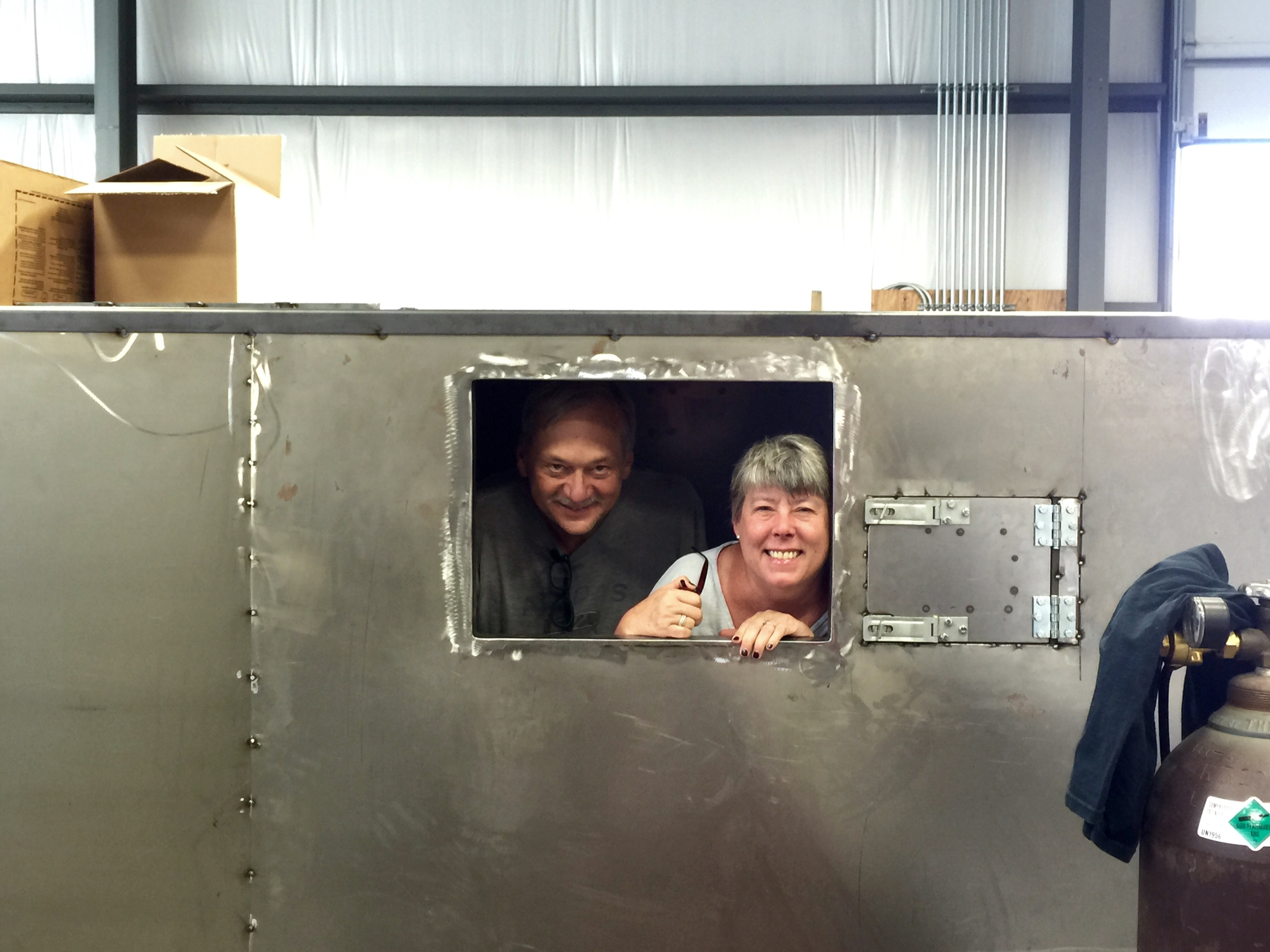 Craig and Joan in the Kiln