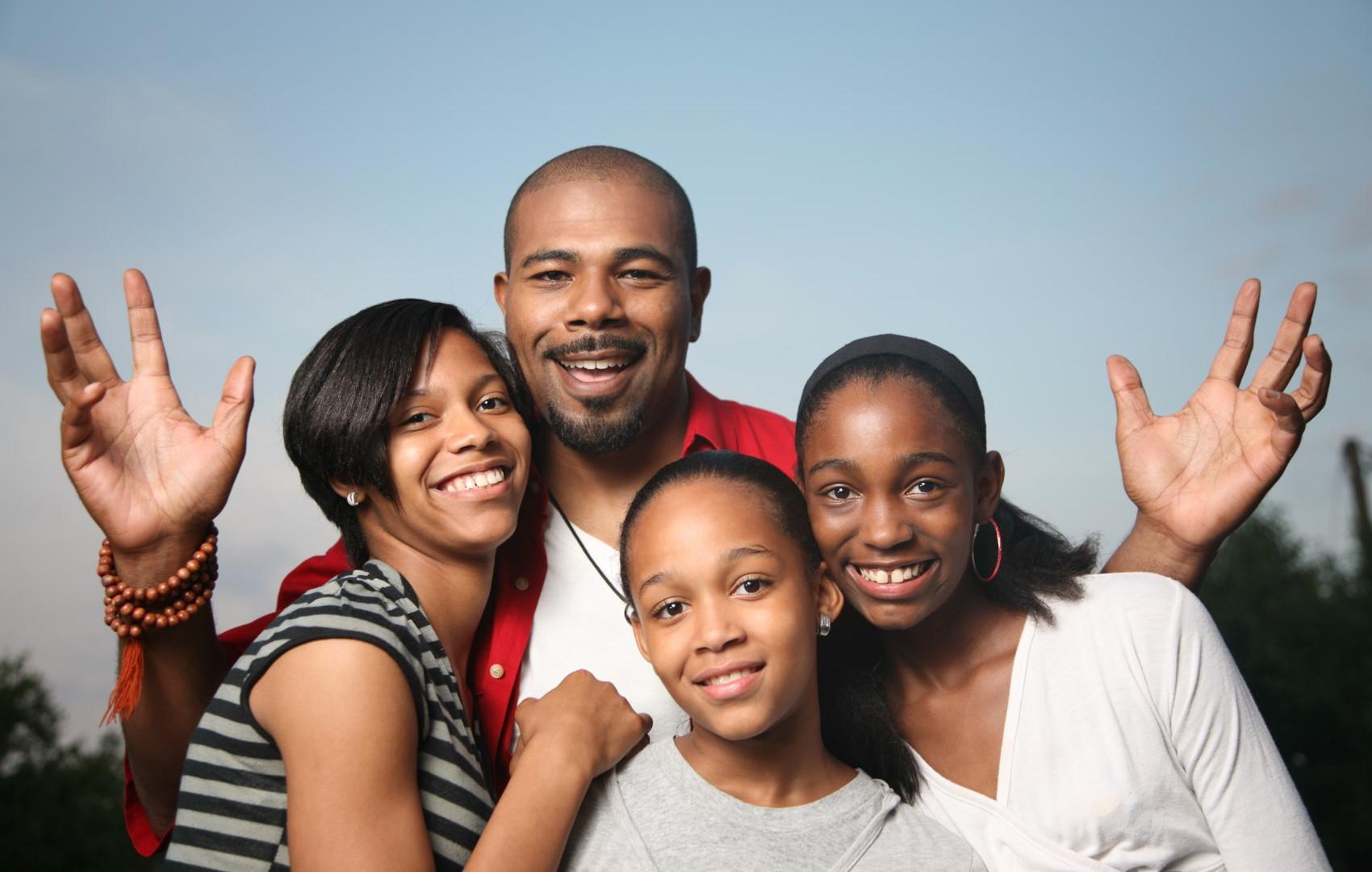 Wesley et sa famille