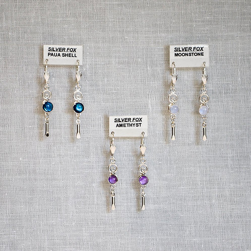 See-Thru Drop 1 Sterling Silver Gemstone Earrings