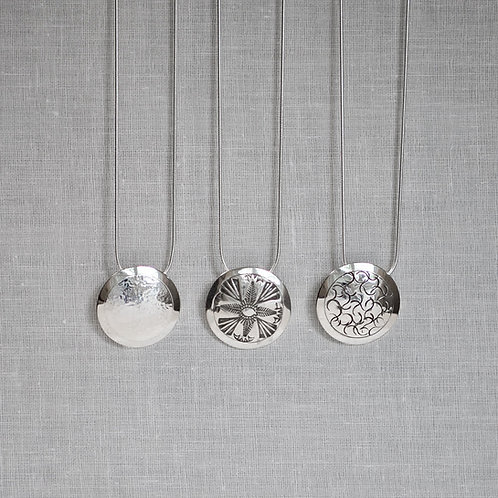 """1"""" Sterling Silver Dome Necklaces  Small"""