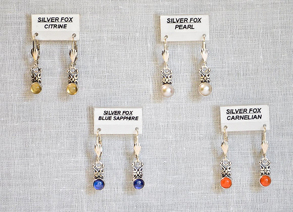 See-Thru Drop 2  Sterling Silver Gemstone Earring