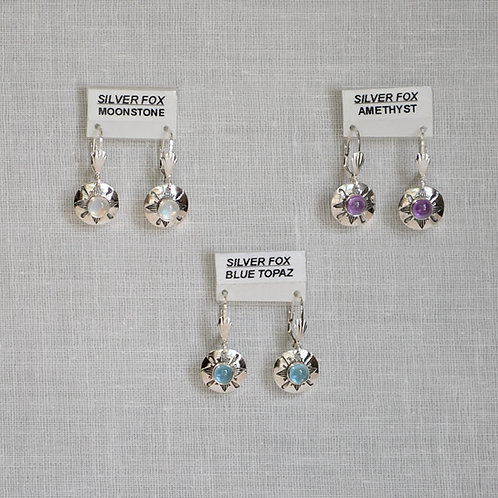 See-Thru Series Sterling Silver Gemstone Earrings