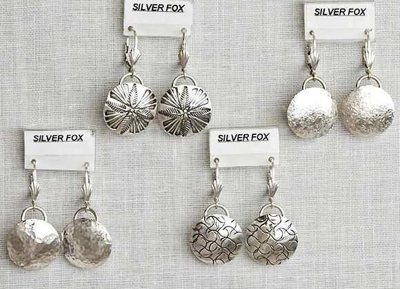 Small Dome Sterling Silver Earrings