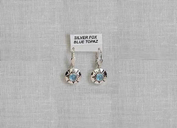 See-Thru Series Blue Topaz Sterling Silver Gemstone Earrings
