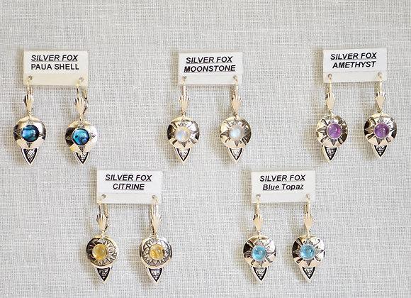 See-Thru with Drop Sterling Silver Gemstone Earrings