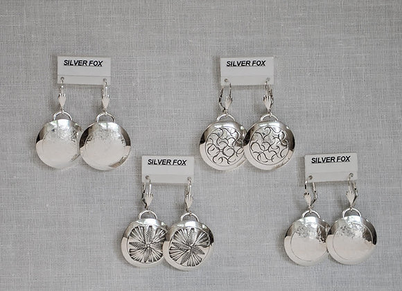 Large Dome Sterling Silver Earrings