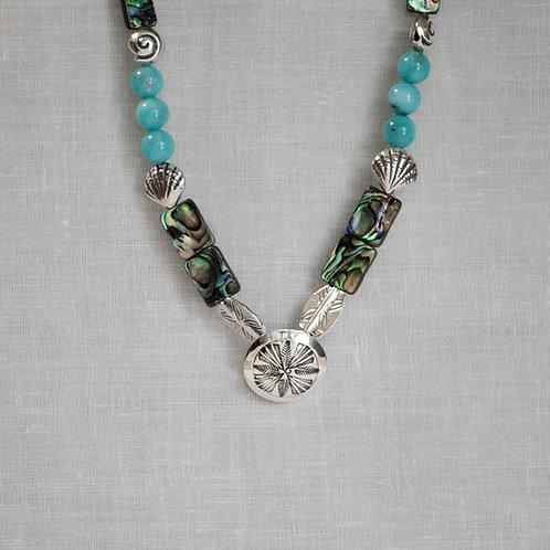 Paua Shell Dome Necklace