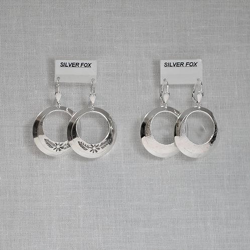 Large Dome Hoop Earrings