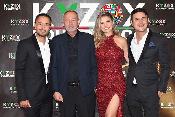 Kyzox innovations partners derek ramsay dr francois martin, priscilla and john estrada