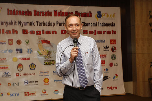 Dr Francois Martin raise 5M dollar for Indonesian anti-dengue campaign