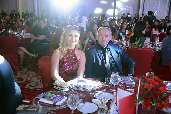 Priscilla estrada and dr francois martin at kyzox grand launching