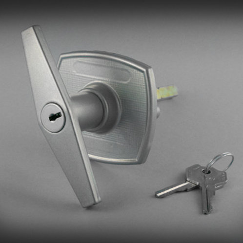 Birtley Garage Door Silver T Handle (Pattern)