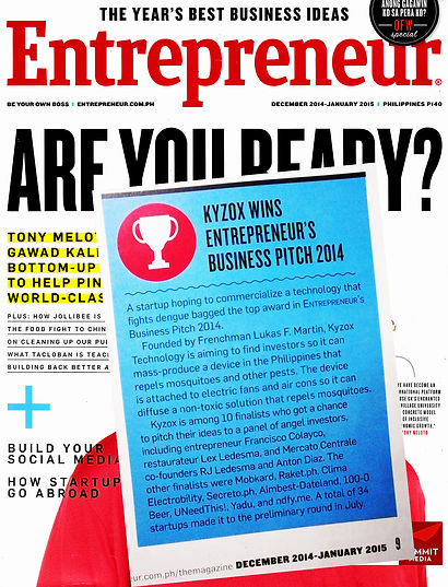 kyzox won Entrepreneur magazine best business idea 2014