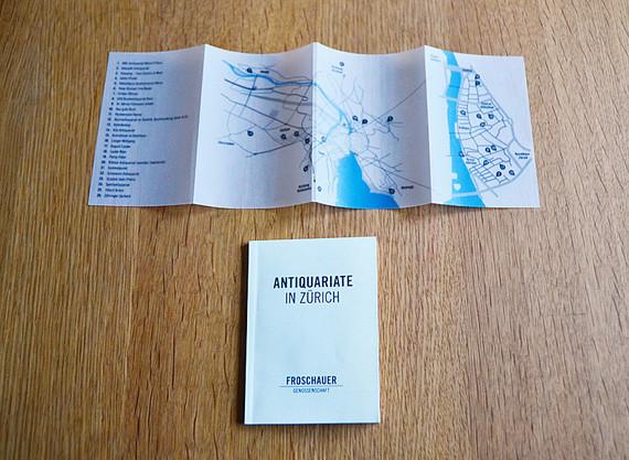 Umschlag Stadtkarte und Booklet