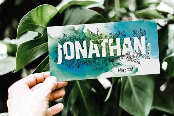Geburtskarte Jonathan