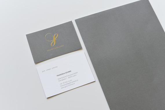 Corporate Design für Gold Schmid Francesca