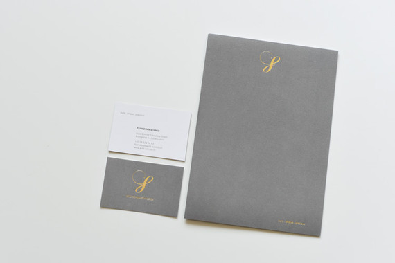 Briefschaften mit Veredelung und Prägung