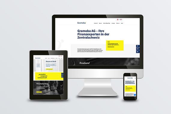 Webdesign und Realisation Gramoba