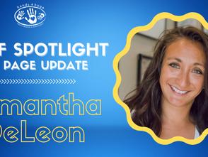 Staff Spotlight & Web Page Update - Samantha DeLeon