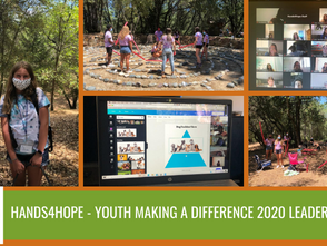 Youth Attend Hands4Hope - Youth Making A Difference Leadership Camp; Now Set to Lead Clubs & Com