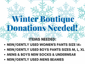 Winter Boutique Donations Needed