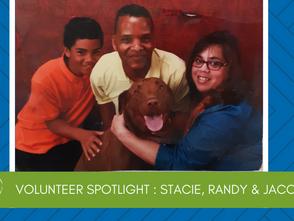 Volunteer Spotlight:  Stacie, Randy & Jacob Hubbard