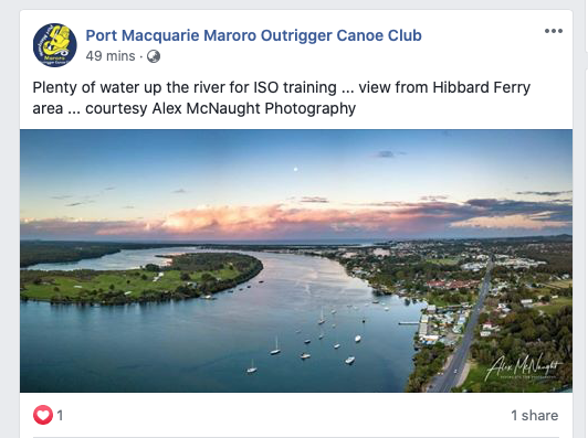 Shared by Port Macquarie Maroro Outrigger Canoe Club