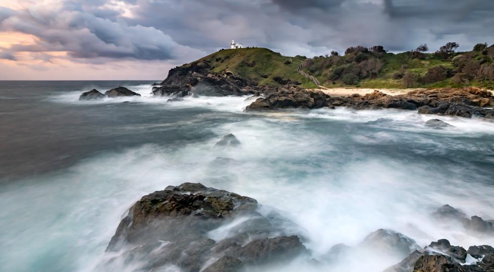 Tacking Point storm at dawn