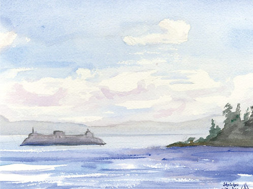 The Ferry to Bainbridge - canvas print