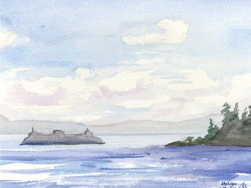 The Ferry to Bainbridge - canvas print