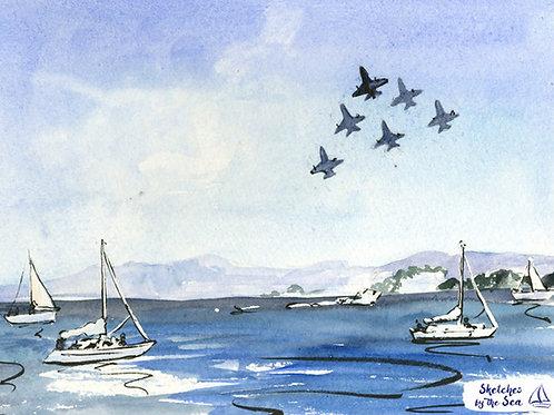 Blue Angels & White Sails - print