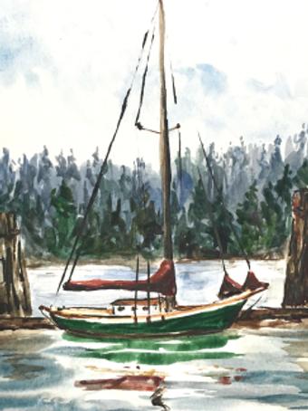 Tanbark Sail Covers - canvas print