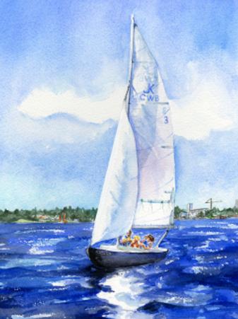Full Sails on Lake Union - print
