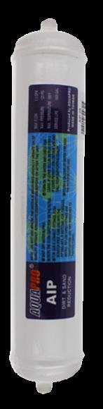 Cartouche en ligne sédiments 10'' x 2'' avec raccords rapides 1/4''