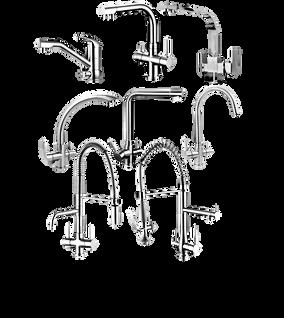 Collection complète de robinets à 3 voies
