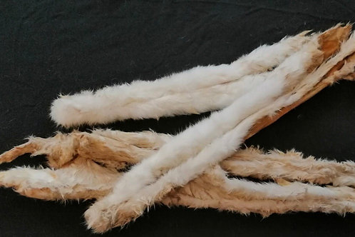 Rabbit Skin with Fur X 3