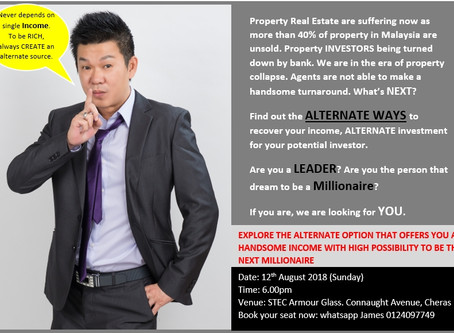 Property in Malaysia collapse. More than 40% unsold. Lets create an Alternate source of investment