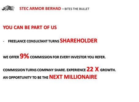 9% REFERRAL PROGRAM. EVERY INVESTOR YOU REFER, 9% COMMISSION WILL BE GIVEN TO REFERRAL