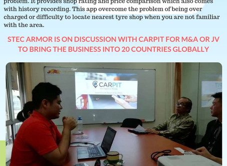 STEC Armor looking forward to work with CARPIT for Global Expansion