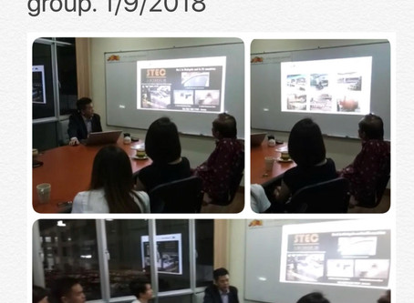 James Tomas sharing investment opportunity for Venture Equity group on 1st Sept 2018