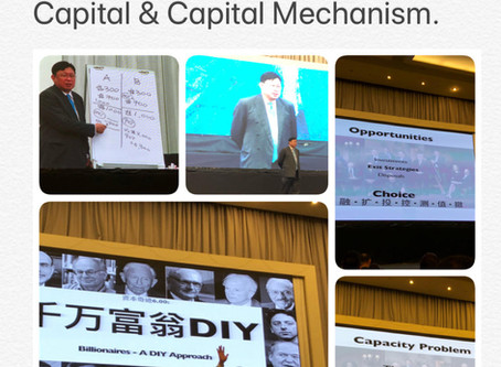 Dr. Wong Jeh Shyan. Founder of STEC Armor Berhad. Teaches 1000 students about Miracles of Capital