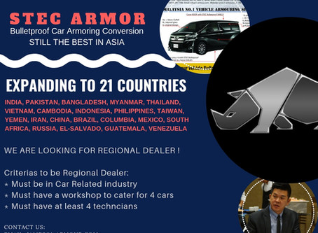 REGIONAL DEALER ENGAGEMENT IN 21 HIGH CRIMES COUNTRIES BY STEC ARMOR EXPANSION PROGRAM