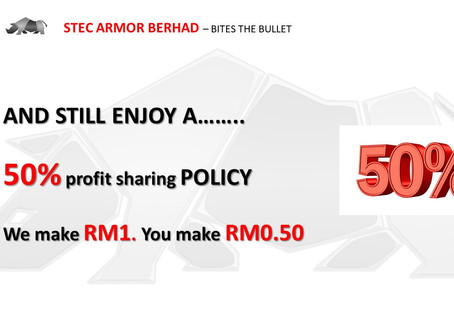 50% PROFIT SHARING. EVERY PENNY WE MAKE, 1/2 WILL BE SHARED TO SHAREHOLDER EVERY YEAR.