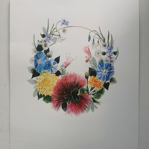 Original Blostma Watercolour Garland