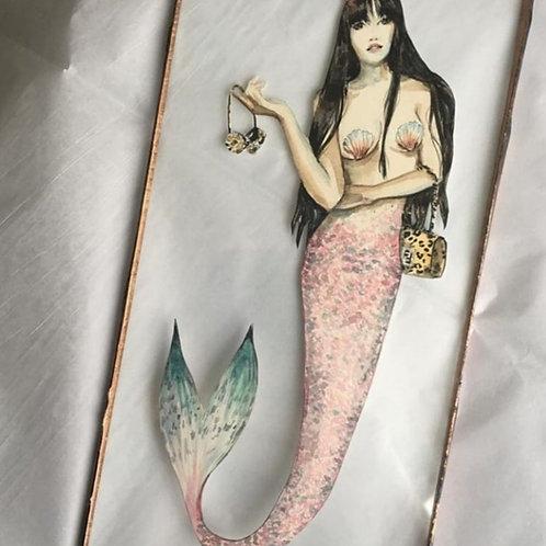 Single Personalised Mermaid in Glass