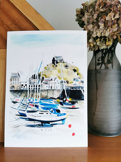 'The Quay' Ilfracombe Harbour A4 Print